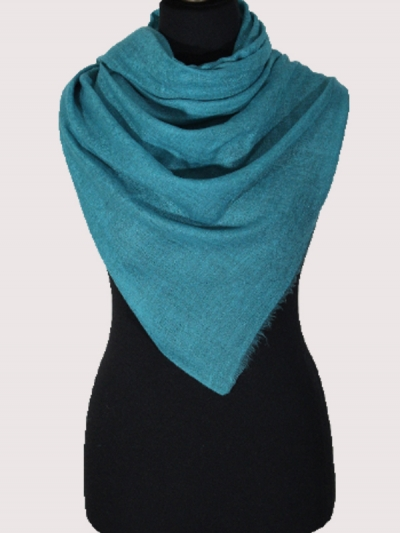 Delicate Royal Turquoise Blue Handmade  Cashmere  Pashmina scarf