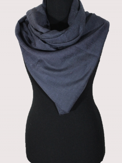 Fabled blue handmade ultra-fine cashmere pashmina scarf