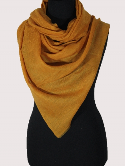 Delicate Fabled Oyster Mustard Handmade cashmere pashmina scarf
