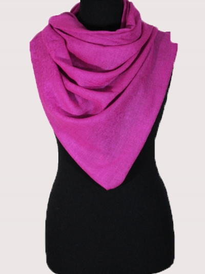 Marvelous royal pink Handmade  Cashmere  pashmina scarf