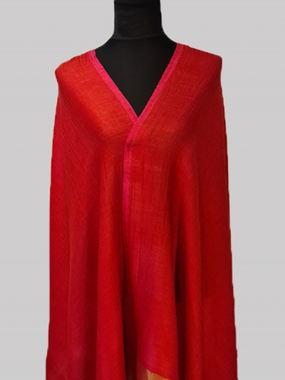 Beautiful Red Super soft Handmade Cashmere Pashmina Scarf
