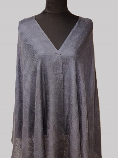Beautiful Grey jacquard weave Super soft Handmade Cashmere Pashmina Scarf