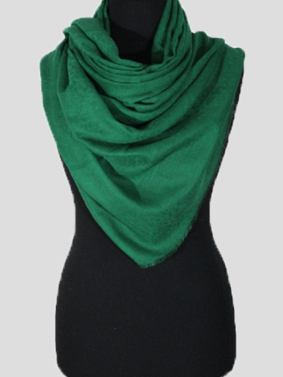 Delicate Pine Green Handmade Cashmere Pashmina scarf