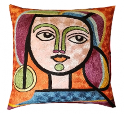 Picasso-decorative-face-art-style-modern-accent-decorative-throw-pillow-cover