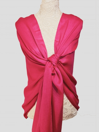 Delicate Raspberry Pink Handmade Cashmere Pashmina scarf