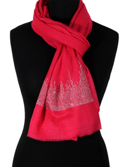 Luxurious Bridal Fabled Pink Swarovski Crystal Pashmina Scarf