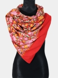 Red cashmere pashmina embroidery scarf at designer Kashmir