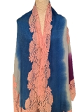 Cashmere Pashmina French Lace Scarf